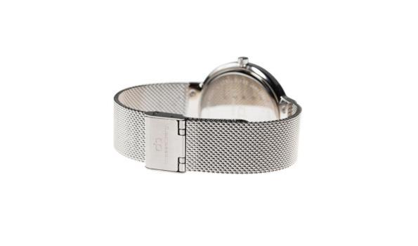 Dresselberg PARKER zilveren kast / twee bandjes: zilver + zwart
