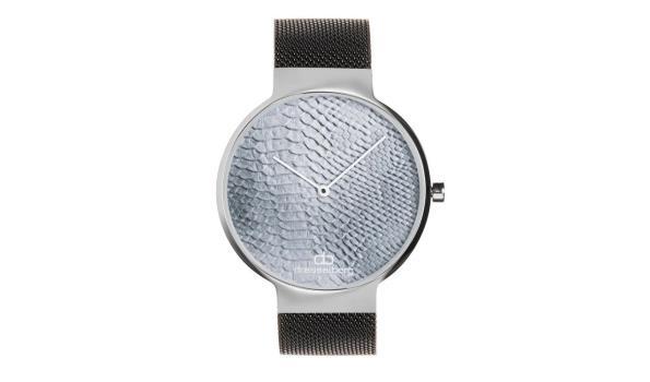 Dresselberg RILEY zilveren kast / zwart bandje