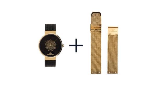 Dresselberg TORY gouden kast / twee bandjes: zwart + goud