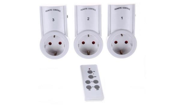Stopcontact 3 delig met afstandsbediening