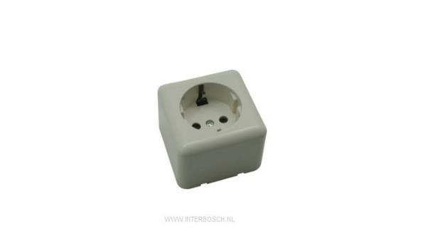 WCD Opbouw Stopcontact, enkel, 10x