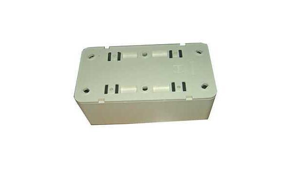 WCD Opbouw Stopcontact, dubbel, 50x