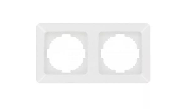 WCD Inbouw Afdekraam 2-voudig, wit, 50x