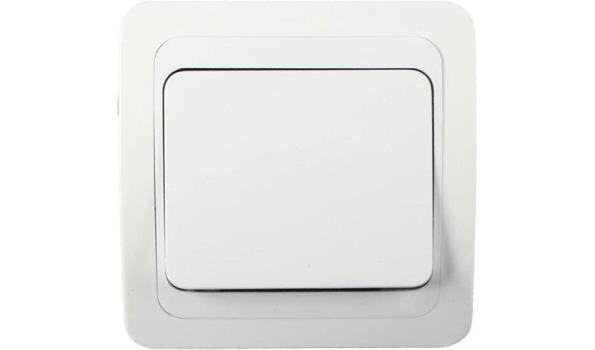 WCD Inbouw Schakelaar, wit, 10x