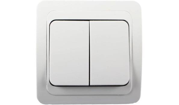 WCD Inbouw Schakelaar, wissel, wit, 10x