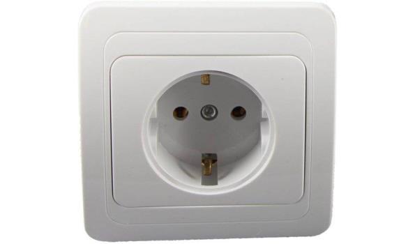 WCD Inbouw Stopcontact, wit, 50x