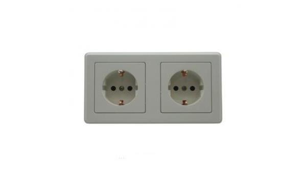 WCD Inbouw Stopcontact, dubbel, wit, 10x