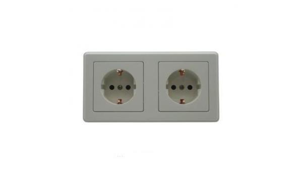 WCD Inbouw Stopcontact, dubbel, wit, 50x