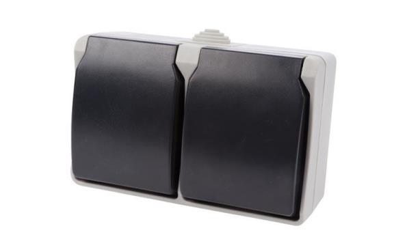 WCD Spatwaterdicht Stopcontact dubbel, 25x