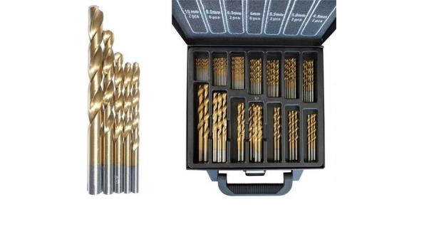 Borenset 101-delig in metalen koffer, Titan coated
