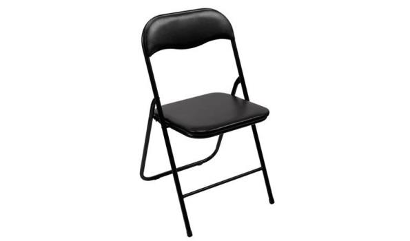 Vouwstoel, zwart, 2x