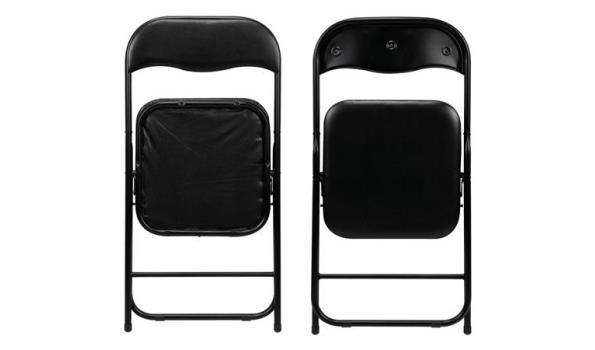 Vouwstoel, zwart, 4x