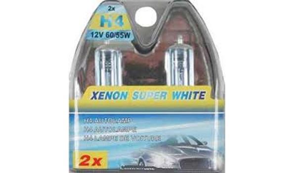 Autolampen set 2 dlg H4 Xenon, 4x