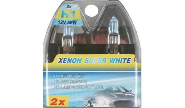 Autolampen set 2 dlg H1 Blue Xenon, 4x