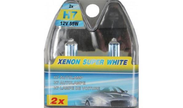 Autolampen set 2 dlg H7 Xenon, 4x