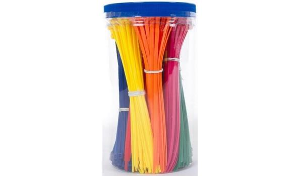 Kabelbindersset in trendy kleuren