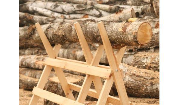 Zaagbok hout, inklapbaar, 2x