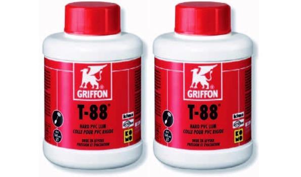 Hard PVC Lijm, Griffon, 500 ML, 2x