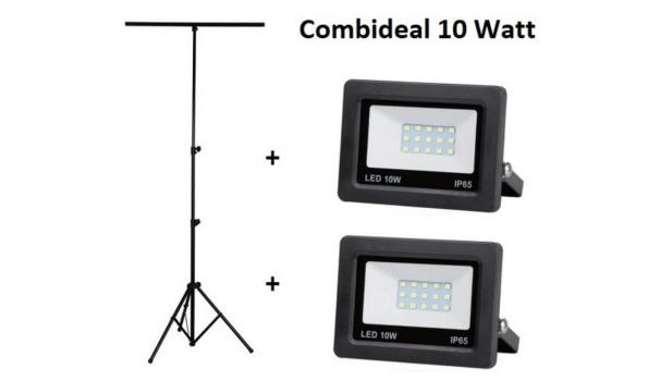 Statief + 2 LED stralers 10 watt