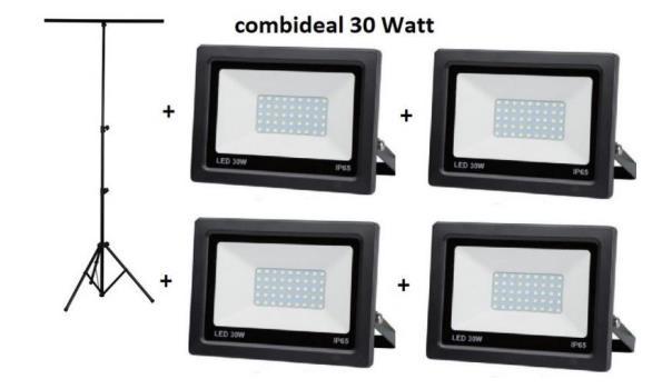 Statief + 4 LED stralers 10 watt