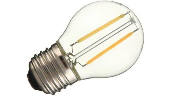 LED lamp E27, 2 watt, filament, warmwit, 5x