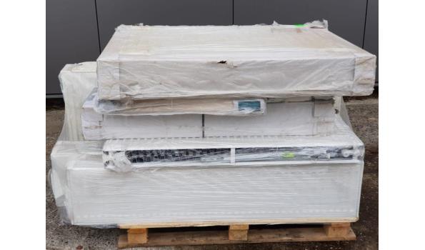 Paneel radiatoren, partij á 9 stuks