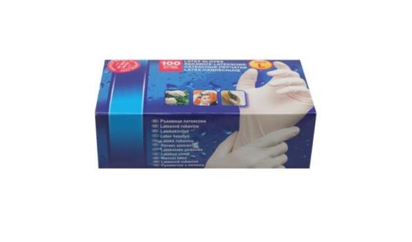Latex handschoen, maat medium, 300 stuks