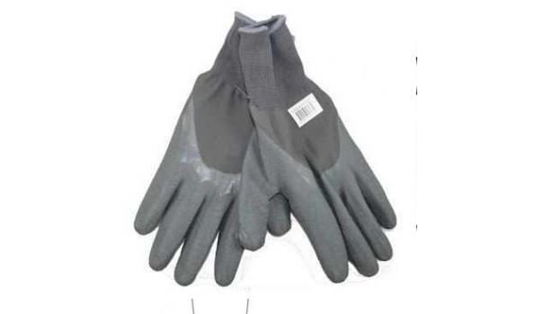 Werkhandschoenen PU flex grijs rib, 12 paar