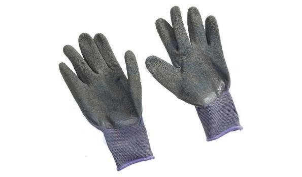 Werkhandschoenen PU flex grijs, 12 paar