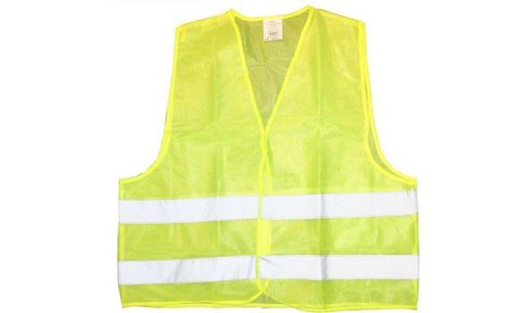 Veiligheidsvest, geel, 10x