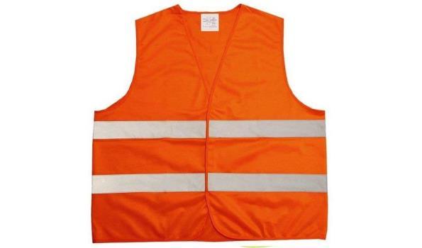 Veiligheidsvest, oranje, 10x