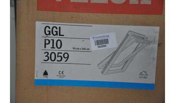 velux dakvenster ggl p10 3059 94x160cm. Black Bedroom Furniture Sets. Home Design Ideas