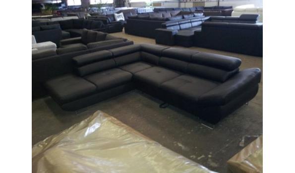 Hoekbank Met Opbergruimte.Zwart Eco Leder Lounge Hoekbank L 3 Met Bed Erin En Opbergruimte Proveiling Nl