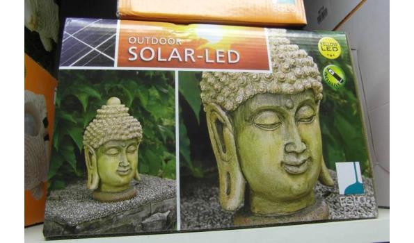 Boeddha Met Led Verlichting.1 Stuks Eglo Solar Led Verlichting Afbeelding Boeddha Geel Licht Proveiling Nl