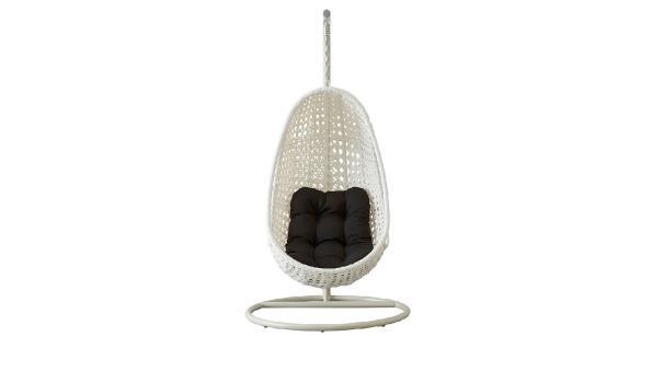 Witte Standaard Voor Hangstoel.Design Schommel Hangstoel Met Standaard Kleur Wit Met Zwart