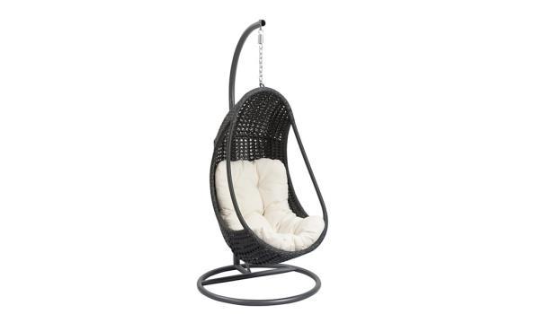 Design Hangstoel Binnen.Design Schommel Hangstoel Met Standaard Kleur Antraciet Zwart Met