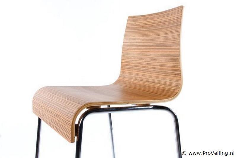 Kokoon Design Barstoel Hout Zebrano BS00250ZE | ProVeiling.nl