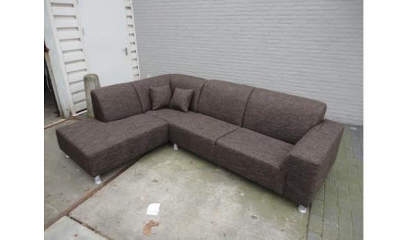 Hoekbank Bruin Gemeleerd.Lounge Hoekbank Bruin Gemeleerde Stof L 3 Proveiling Nl