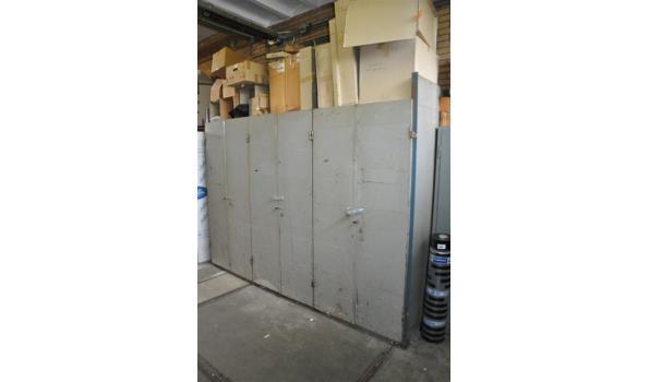 Stellingen Voor Garage.Werkkasten Stelling Met Afsluitbare Deuren Proveiling Nl