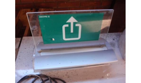 Nooduitgang bordje met verlichting | ProVeiling.nl