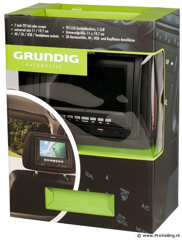 grundig hoofdsteun met dvd speler en afstandsbediening. Black Bedroom Furniture Sets. Home Design Ideas
