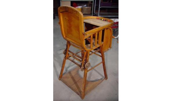 Ouderwetse Houten Kinderstoel.Oude Antieke C De Meuse Verstelbare Houten Kinderstoel Kindergemak