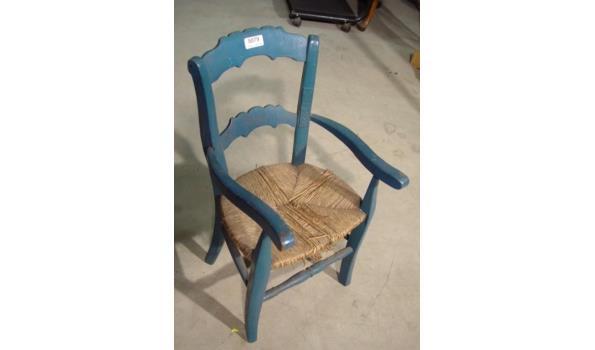 Ouderwetse Houten Kinderstoel.Oude Houten Kinderstoel Met Rieten Zitting Proveiling Nl