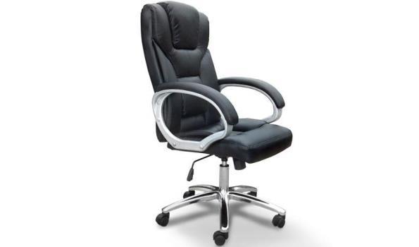 Bureaustoel Met Neksteun.Luxe Bureaustoel Met Hoofdsteun Kleur Zwart Proveiling Nl