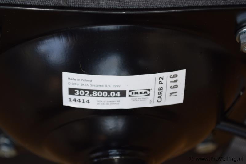 Ikea Kuip Bureaustoel Grijs Gestoffeerd Proveiling Nl