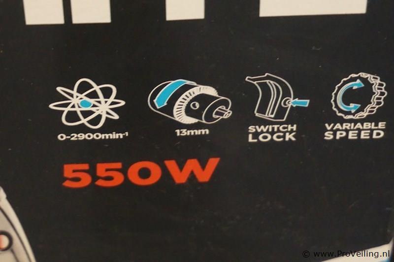 Graphite boormachine 550W