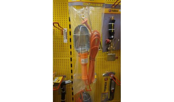 Werklamp 60W 5m snoer oranje