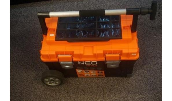 Gereedschapstrolley van Neo met handvat op wielen