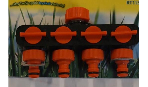 4weg tapconector voor tuinslang
