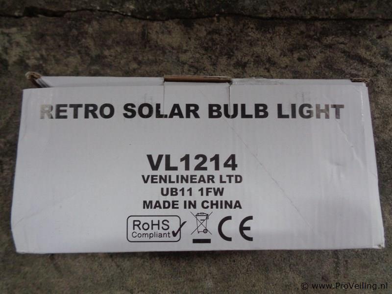 Retro solar licht